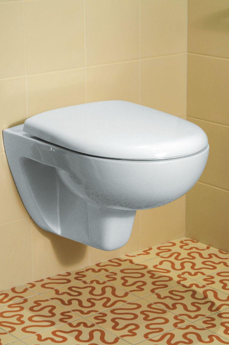 Pack WC suspendu CONCERTO 2 blanc avec abattant frein de chute 083