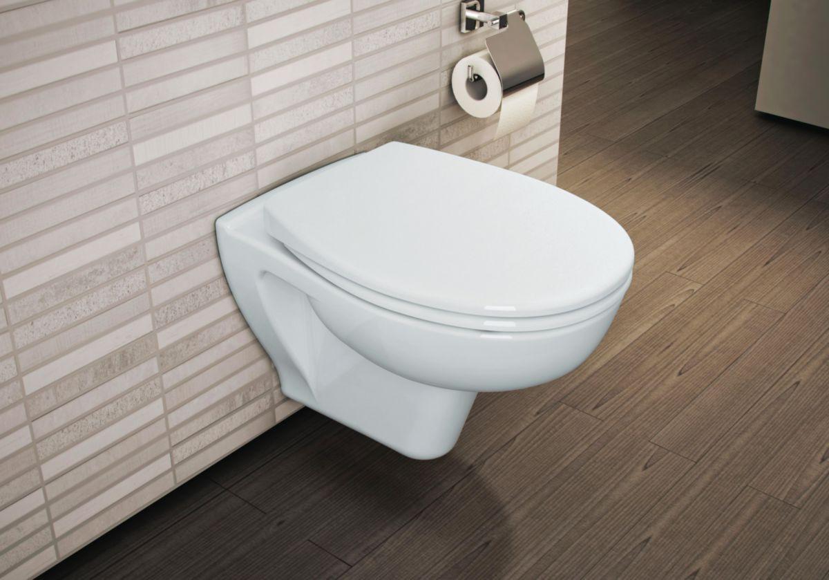 Type De Wc Suspendu pack wc suspendu vers'eau sans bride avec abattant frein de chute