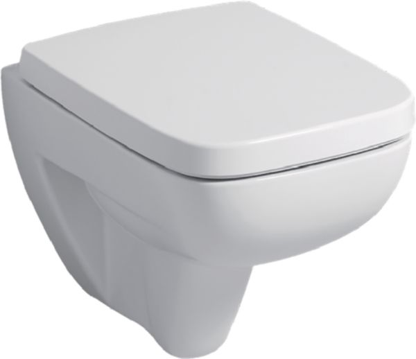 WC suspendu PRIMA STYLE compact, abattant frein de chute