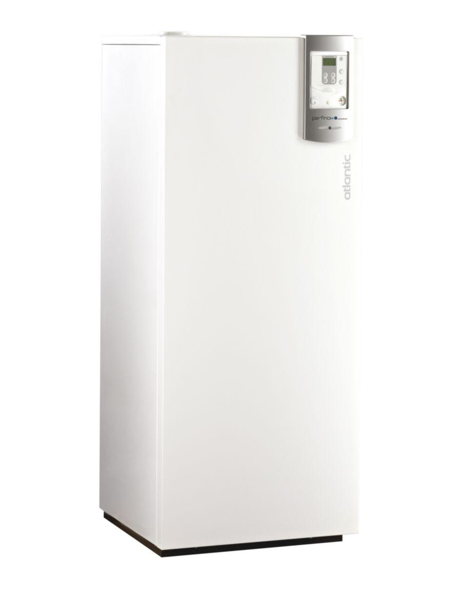 Chaudière à condensation sol PERFINOX DUO 5024 avec chauffe-eaux sanitaire solaire, ventouse (non fournie) Classe énergétique A/B 21786 réf.