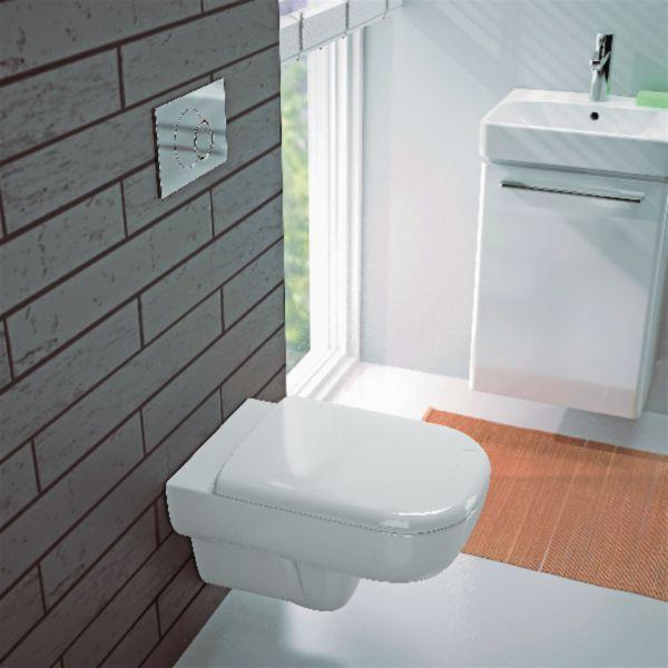 WC suspendu JAM sans bride, abattant frein de chute