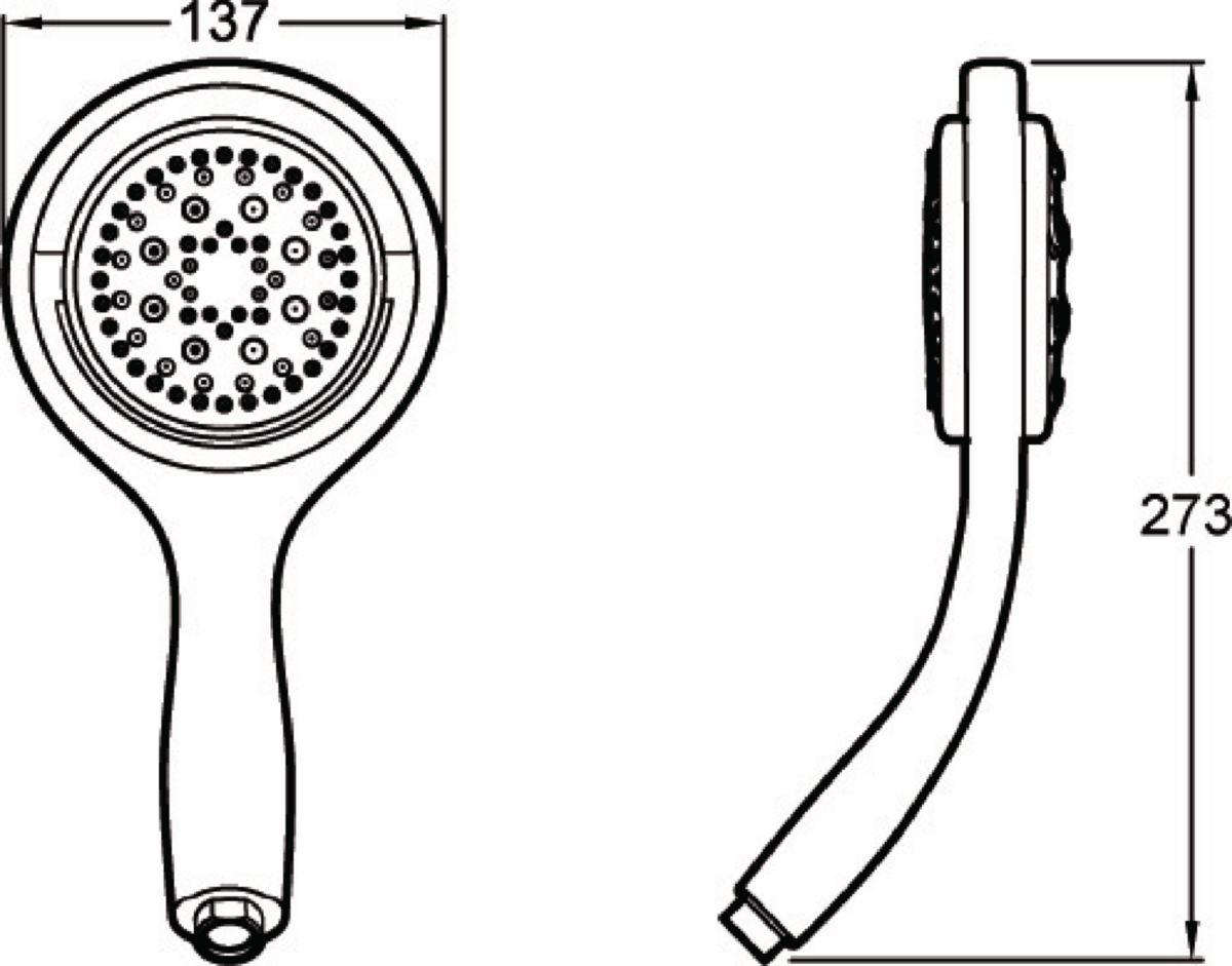Douchette à main FLIPSIDE, rotative, 4 jets, chromé réf. E17493-CP