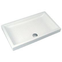 receveur de douche poser unah 120 x 70 cm en c ramique blanc r f j350901 porcher. Black Bedroom Furniture Sets. Home Design Ideas