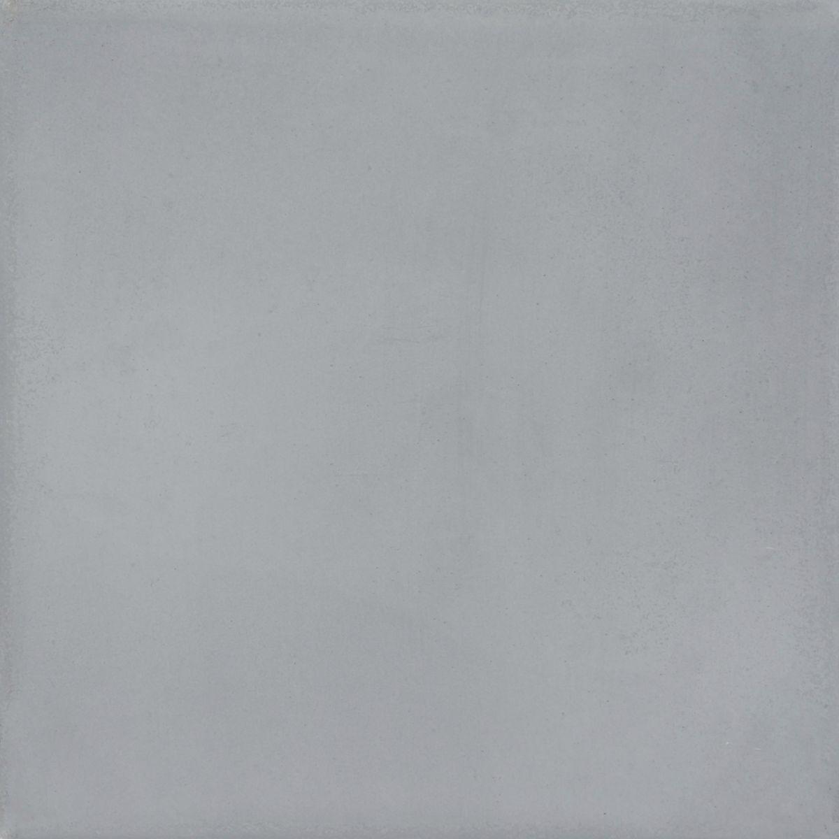 Carreau de ciment uni CIGR02 - gris foncé - 20x20 cm - ép. 1,6 cm