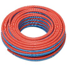 Tube PER pr�gain� D16 double bleu ou rouge 50 m�tres (gaine annel�e ICT PP) 139630/050