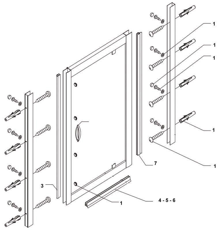 alterna poign e pour porte coulissante pivotante. Black Bedroom Furniture Sets. Home Design Ideas