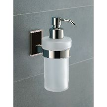 Distributeur de savon avec distributeur en metal chrome maine a coller chrome Réf 78811300100