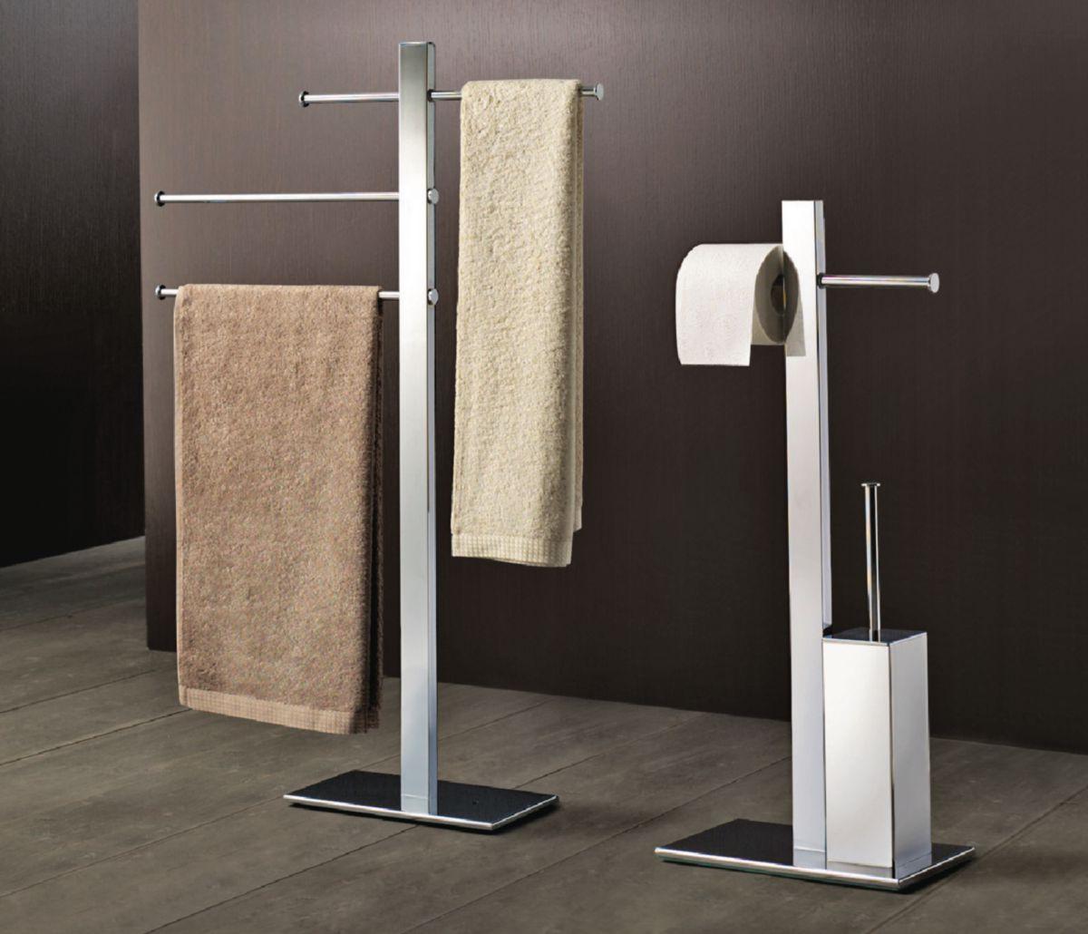 gedy porte serviettes coulissants sur pied bridge chrome lot de 3 r cedeo. Black Bedroom Furniture Sets. Home Design Ideas