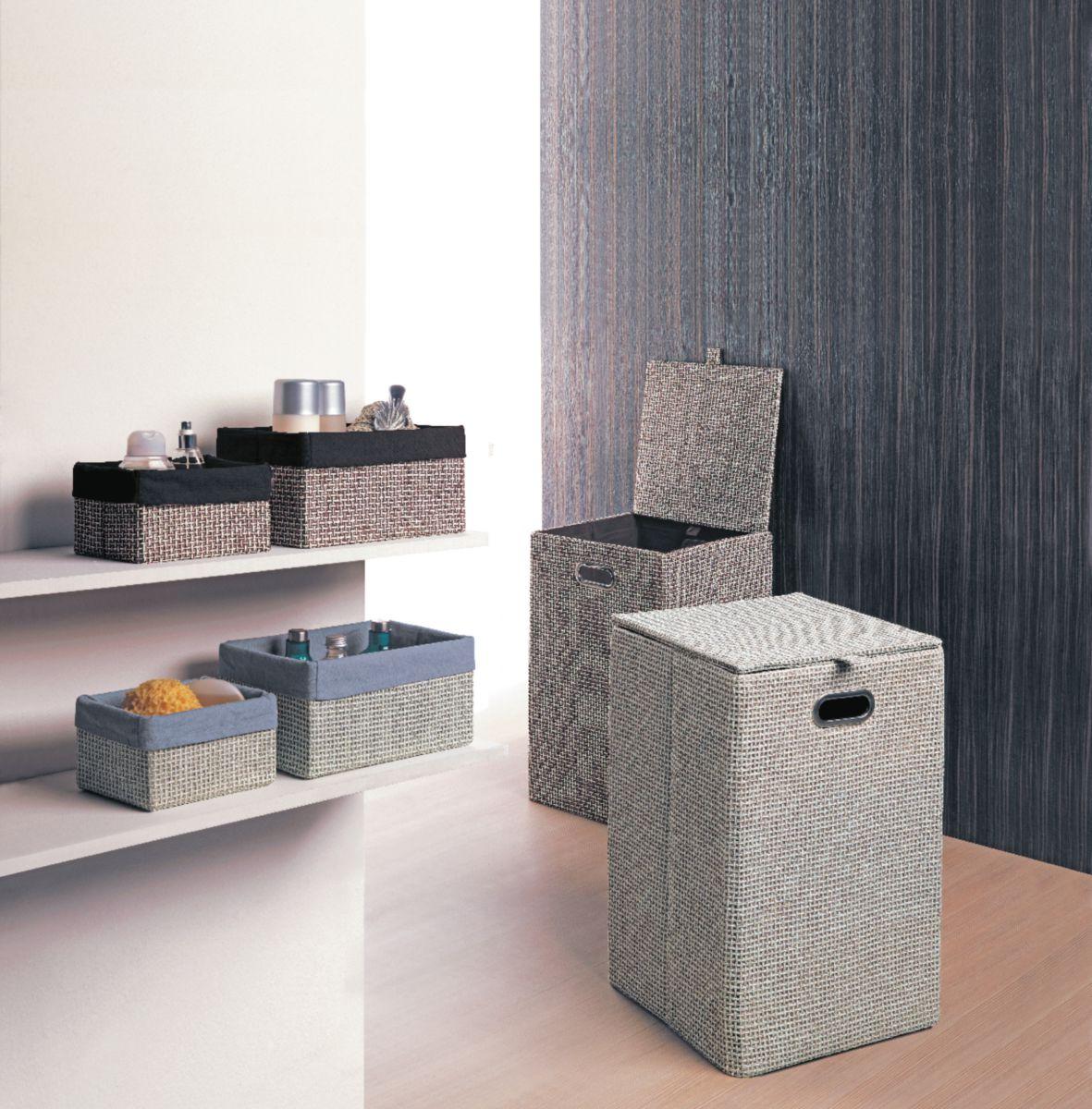 Boîte 21 x 15 cm grise lavanda réf. LA070800300