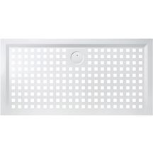 blanc RAL 9003 Shower Online Receveur de douche en r/ésine PLES antid/érapant texture ardoise 70 x 80 toutes les mesures disponibles avec grille couleur et siphon