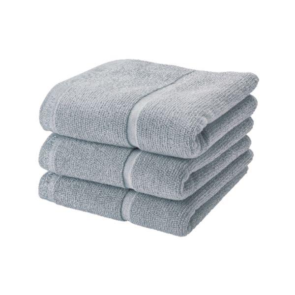 Serviette ADAGIO gris argenté