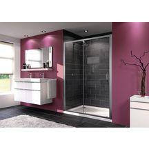 paroi de douche porte coulissante grande largeur 1 l ment avec segment fixe aqua 2 87 x 11 x. Black Bedroom Furniture Sets. Home Design Ideas