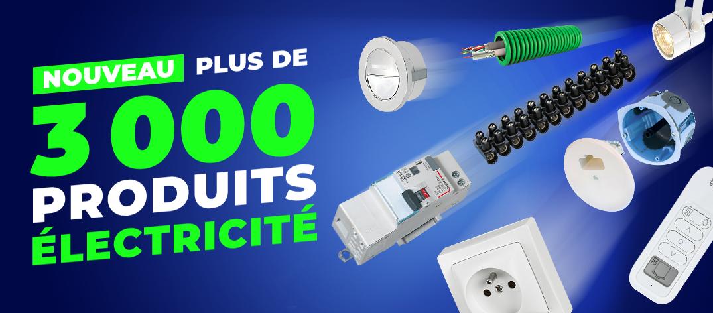 3000 références électricité sur cedeo.fr