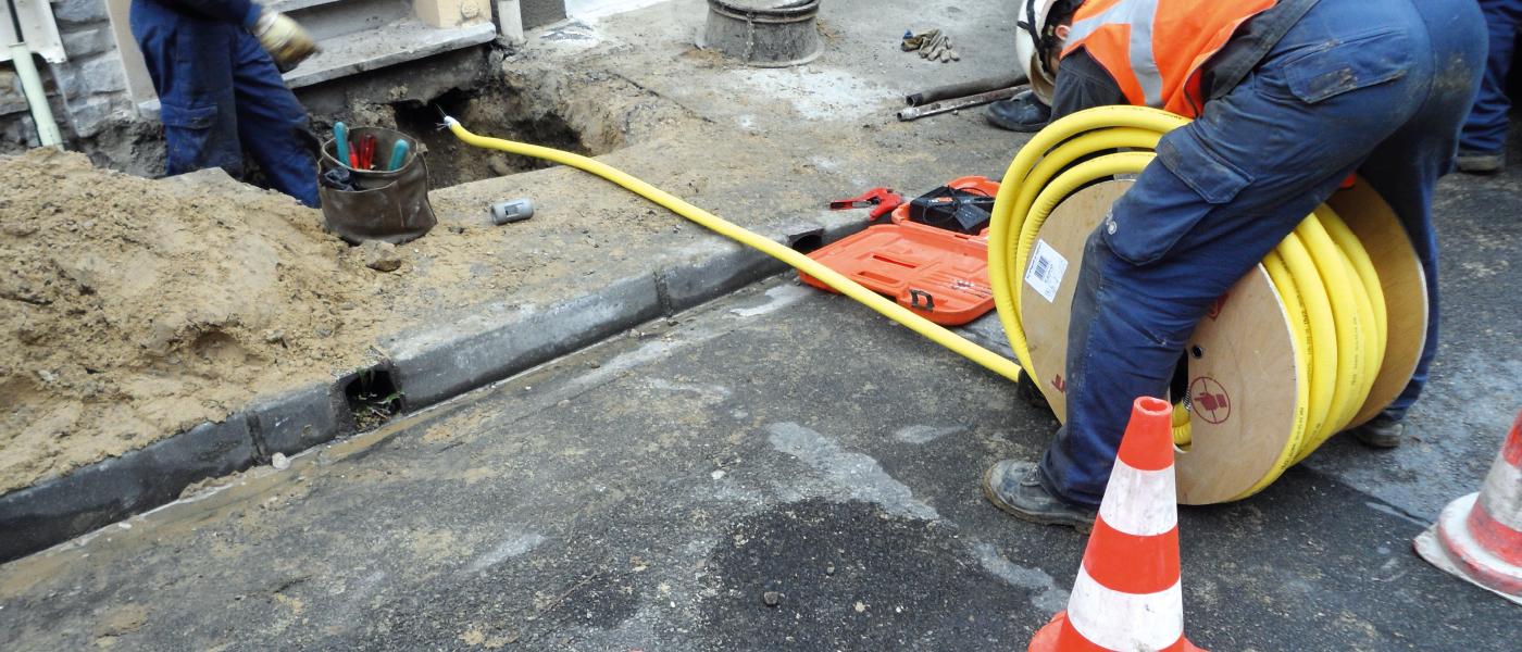 Le PLT, ou tuyau pliable, se déroule très facilement.