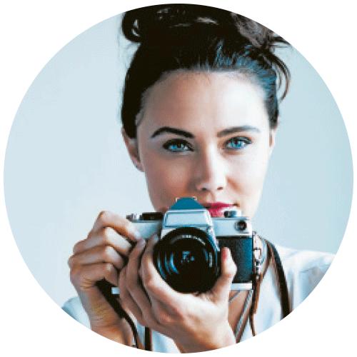portrait d'Olivia, photographe