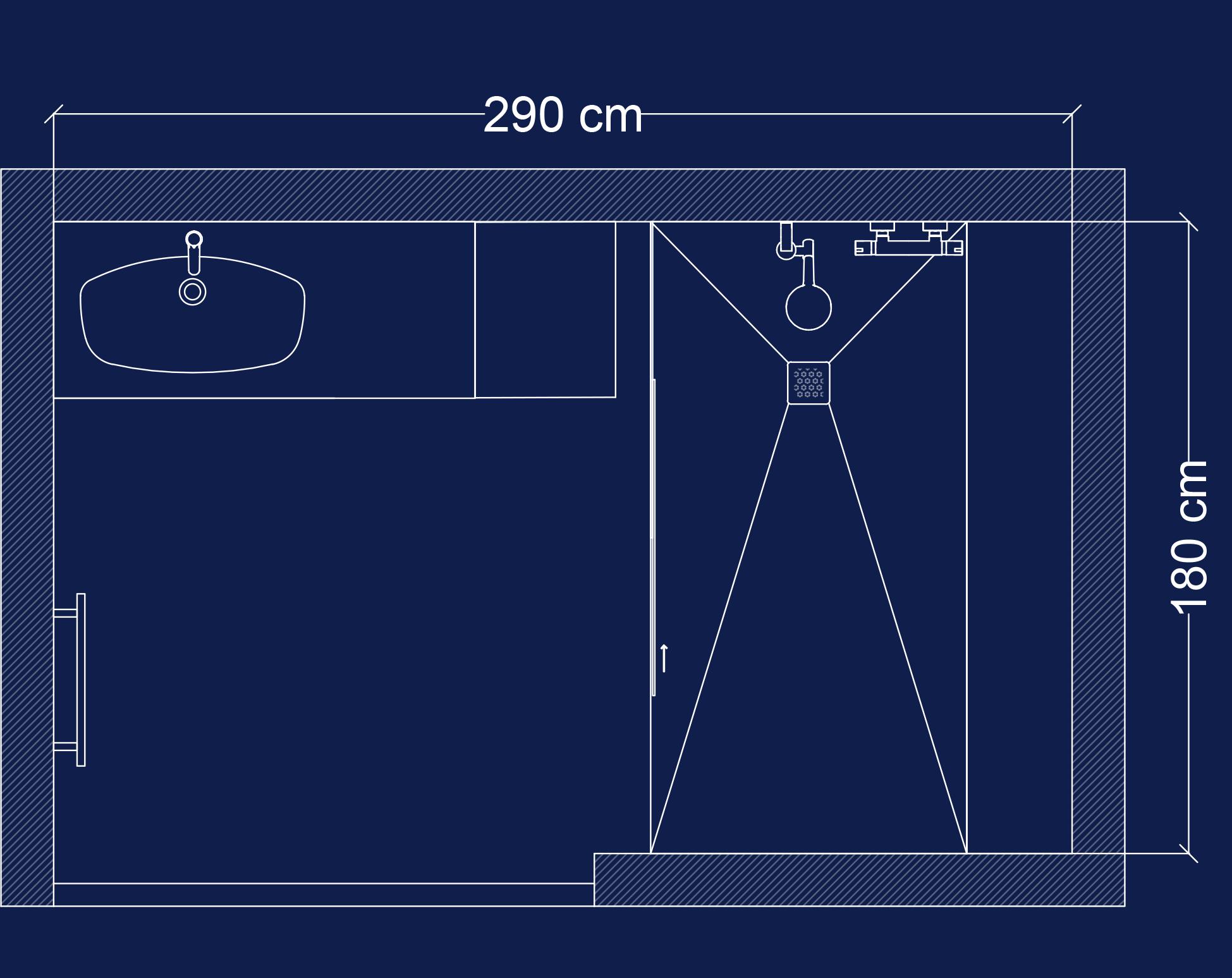 Plan 2D salle de bain Access