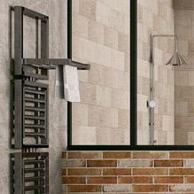 Sèche-serviettes en métal type industriel