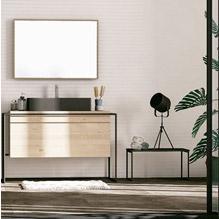 Lavabo et meuble en bois