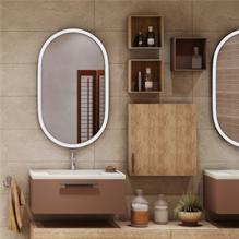 Espace salle de bain boisé