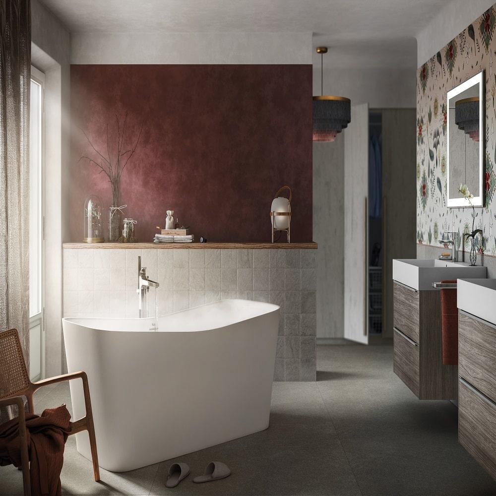 La baignoire îlot, star des salles de bain classiques ou modernes