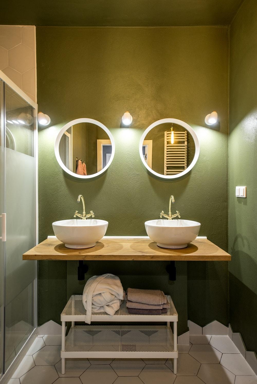 Du vert dans ma salle de bain !  Cedeo