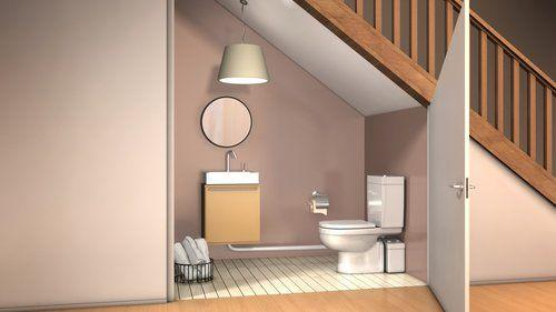 Comment installer des wc dans un petit espace cedeo - Decoration wc sous escalier ...